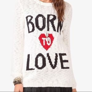 Born To Love Cable Knit Sweater